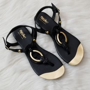 Black and Gold sandals!